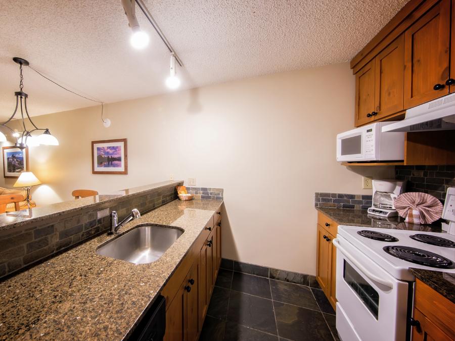 Tantalus Whistler village hotel kitchen