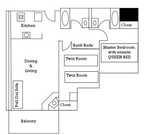 Two Bedroom Bunk Suite 2015